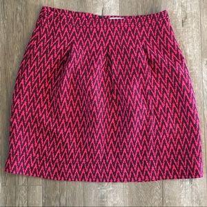 LOFT Skirts - Loft Pink and Purple Chevron Skirt